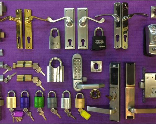 Locks, knobs and handles